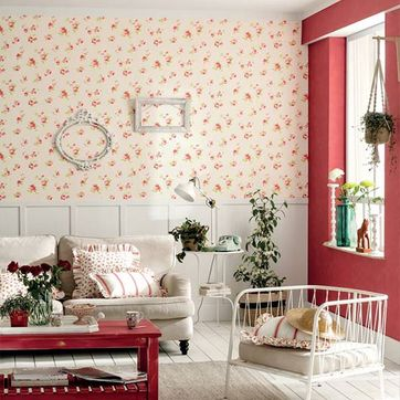 Decoración Alonso papel con con rosas